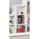 【森可家居】簡約白色耐磨三格櫃 8SB242-4 開放矮書櫃 收納 北歐風 MIT台灣製造