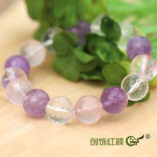 粉紫水晶手鏈
