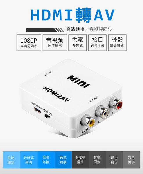 【AB068】 台灣晶片 HDMI轉AV HDMI2AV HDMI端子轉AV 轉接盒PS4遊戲機 DVD播放轉接器