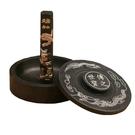 天然原石羅紋硯台帶蓋墨池