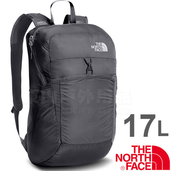 The North Face CJ2Z-0C5瀝灰 TNF 17L可折疊輕便背包 戶外健行背包