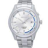 【均一價$6180】SEIKO KINETIC 都會簡約人動電能腕錶-銀/42mm/5M82-0AV0S(SKA717P1)