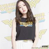 OUTER SPACE X DC正義聯盟-Wonder Woman曲線背心(黑)(台灣限定)