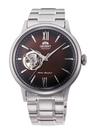 [Y21潮流精品] 新款!ORIENT 東方錶 SEMI-SKELETON系列 鏤空機械錶 鋼帶款 咖啡色 RA-AG0027Y