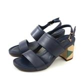 HUMAN PEACE 涼鞋 粗跟 深藍色 女鞋 65135 no304