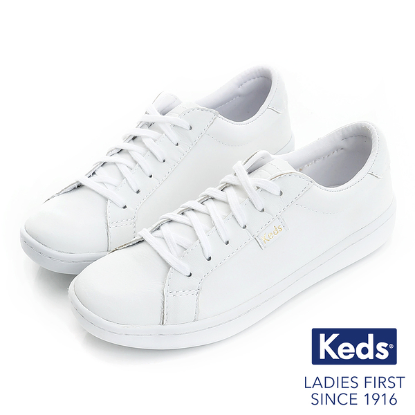 KEDS ACE皮革綁帶休閒鞋 白 171W130044 女鞋 平底│小白鞋