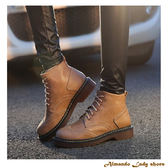 [ALMANDO-SHOES] 秋冬新款英倫風綁帶短靴/牛津短靴(34-43大小尺碼)