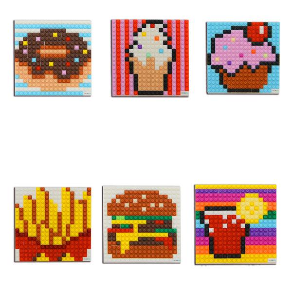 微高積木(甜甜圈/冰淇淋/杯子蛋糕/薯條/漢堡/檸檬汁)微型積木/伯寶行