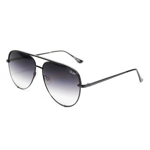 Quay Australia澳洲品牌 HIGH KEY 設計款飛行員墨鏡太陽眼鏡 漸層灰紫/黑框