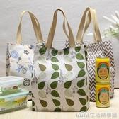 大號A4棉麻防水補習袋便當包日韓帆布手提收納袋飯盒袋單肩手拎袋 生活樂事館