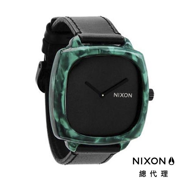 NIXON SHUTTER 正裝皮革 黑綠 潮人裝備 潮人態度 禮物首選