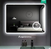 H-電壓【220V】智慧浴室鏡觸控式螢幕led鏡藍牙高清衛生間鏡防霧鏡帶燈梳粧檯【500MM*700MM】