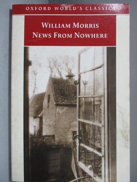 【書寶二手書T8/翻譯小說_NSW】News from Nowhere_Morris, William/ Leopold