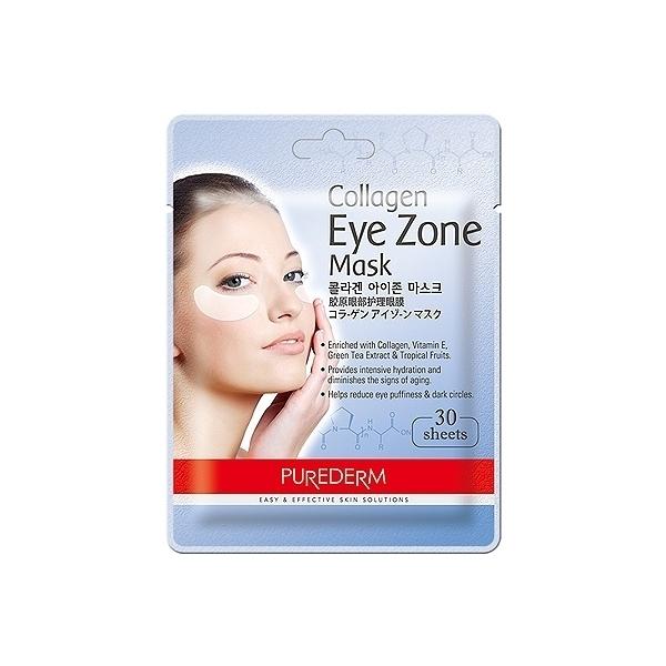 ●魅力十足● 韓國 PUREDERM 膠原蛋白保濕撫紋眼膜(30入)