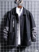 牛仔外套春秋季男士新款潮牌牛仔夾克chic抖音網紅同款學生工裝外套男 春季特賣