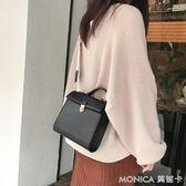 手提包 單品百搭新款純色氣質休閒手提包單肩斜跨包兩背帶包女 莫妮卡小屋