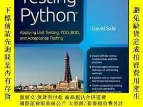 二手書博民逛書店Testing罕見PythonY464532 David Sale Wiley, 2014 ISBN:9781