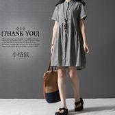 *桐心媽咪.孕婦裝*【CC0530】清新輕盈.清新棉麻連衣裙 -3色