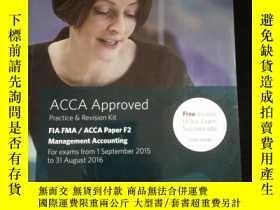 二手書博民逛書店ACCA罕見Approved Practice & Revision Kit FIA FMA ACCA Paper