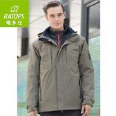 【瑞多仕 RATOPS 男 Pirmaloft 2件式防水透氣外套《棕褐》】RAW-620/保暖外套/防風/連帽