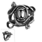 鈦鋼戒指 蛇-復古個性龐克潮流生日情人節禮物男飾品73le178[時尚巴黎]