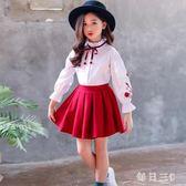 女童兩件套裙新款韓版中大童秋裝兒童洋氣公主裙子潮套裝 zm8006【每日三C】