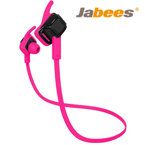 Jabees Beating 藍牙4.1 運動防水 耳塞式耳機 桃紅