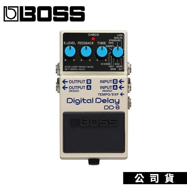 【南紡購物中心】最強單顆 數位延遲效果器 BOSS DD8 Digital Delay 新款