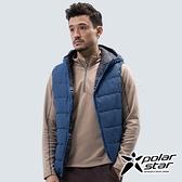 PolarStar 中性 鋪棉雙面保暖背心『深藍』P18213 戶外 休閒 登山 露營 保暖 禦寒 防風 連帽