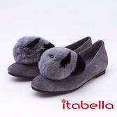 itabella.俏皮宣言 造型熊貓包鞋(9571-81灰色)