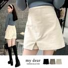 MD韓【A04200227】前片式絨布褲裙3色