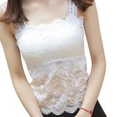 夏季女士韓版打底衫百搭短款小背心大碼內搭上衣抹胸薄款蕾絲吊帶 萬聖節服飾九折