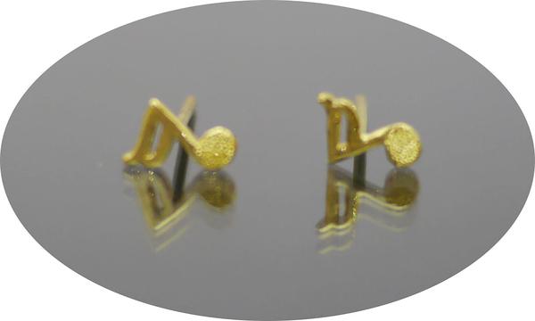 gold 黃金 耳環 金飾 保證卡 重量0.22錢 [ ge 043 ]