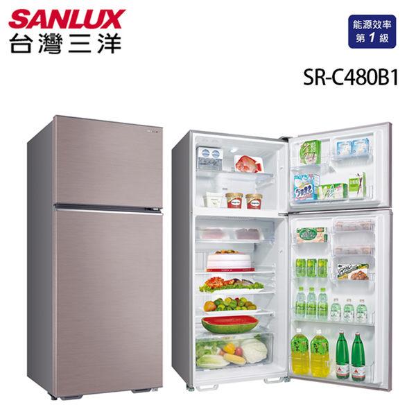 台灣三洋 SANLUX 一級能效 480L雙門定頻冰箱 SR-C480B1