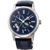 ORIENT東方錶SUN&MOON系列日月相腕錶  SAK00005D  藍