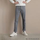 【GIORDANO】男裝彈力棉質基本款錐形長褲-06 灰色