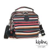 Kipling繽紛仲夏條紋兩用側背後背包-CANDY