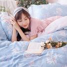 床包被套組 / 雙人加大【綠葉扶花】含兩件枕套  60支天絲  戀家小舖台灣製AAU312