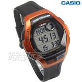 CASIO卡西歐 WS-2000H-4A 樂活首選輕量大錶面運動電子男錶 防水學生手錶 橘x黑 WS-2000H-4AVDF