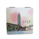 【收藏天地】台灣紀念品*雙面隨身鏡-101我愛台北小物 送禮 文創 風景 觀光  禮品