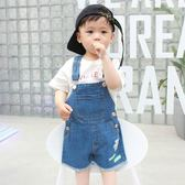 潮童裝男童時尚裝2018新款寶寶牛仔背帶短褲韓國休閒兒童夏季褲子