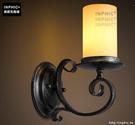 INPHIC- 美式鄉村風格臥室牆燈歐式復古走廊玻璃單頭鐵藝蠟燭台壁燈-B款_S197C