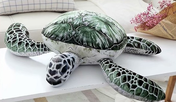 【23公分】仿真海龜娃娃 烏龜抱枕絨毛娃娃玩偶 生日禮物 兒童節 聖誕節交換禮物 親餐廳布置擺設