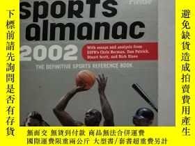 二手書博民逛書店2002罕見SPORTS ALMANAC 2002年體育年鑑Y1