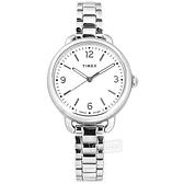 TIMEX 天美時 / TXTW2U60300 / 知性典雅 簡約時尚 冷光照明 礦石強化玻璃 不鏽鋼手錶 白色 30mm