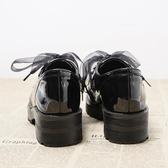 英倫鞋中粗跟學生韓版百搭原宿風單鞋黑色chic小皮鞋女 居享優品