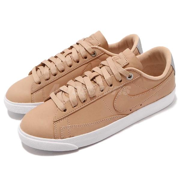 Nike 休閒鞋 Wmns Blazer Low SE PRM 咖啡 白 皮革鞋面 運動鞋 女鞋【PUMP306】 AA1557-200