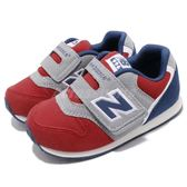 New Balance 慢跑鞋 996 NB 紅 藍 麂皮 魔鬼氈 休閒鞋 童鞋 小童鞋【PUMP306】 FS996RGW