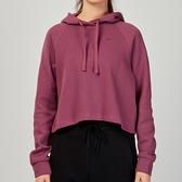 Nike AS W NSW MTRL HOODIE 女子 粉色 短版 連帽 長袖 CJ2664-528