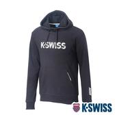 K-SWISS KS Logo Hoodie 連帽上衣-男-黑